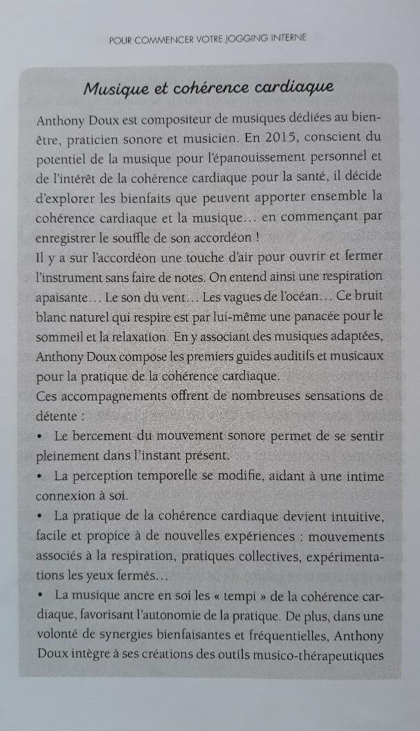 Musique et Cohérence Cardiaque : Anthony Doux